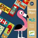 Juego educativo Domino Animo-puzzle +3A de Djeco