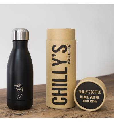 CHILLY´S BOTTLE BLACK MATTE EDITION 260 ML